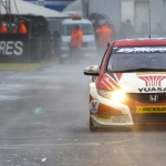 Neal victorious in wet final race