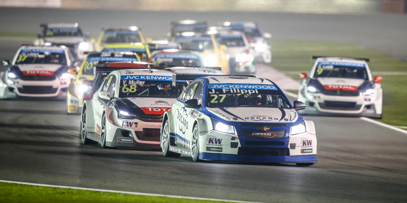 depart start 2 27 FILIPPI John (fra) Chevrolet Cruze team Campos racing action during the 2015 FIA WTCC World Touring Car Championship race at Losail from November 25th to 27th 2015, Qatar. Photo Frederic Le Floc'h / DPPI