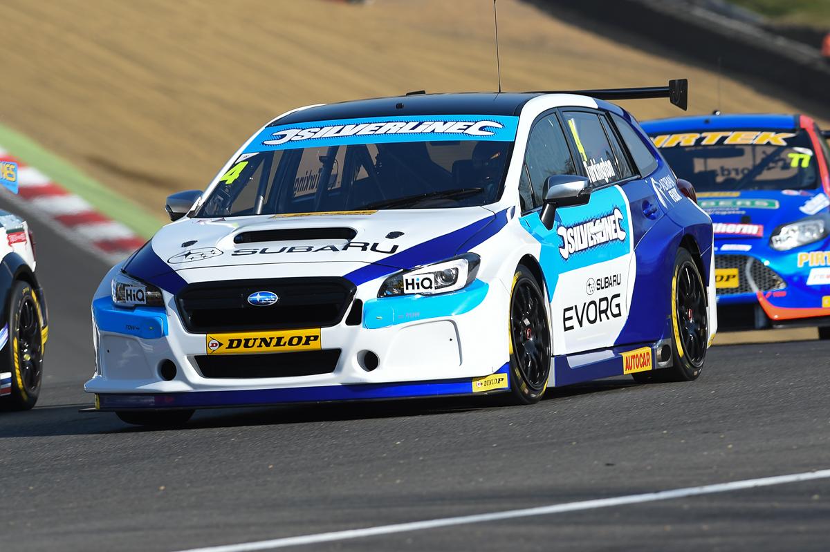 Initial Subaru Levorg running pleases Colin Turkington