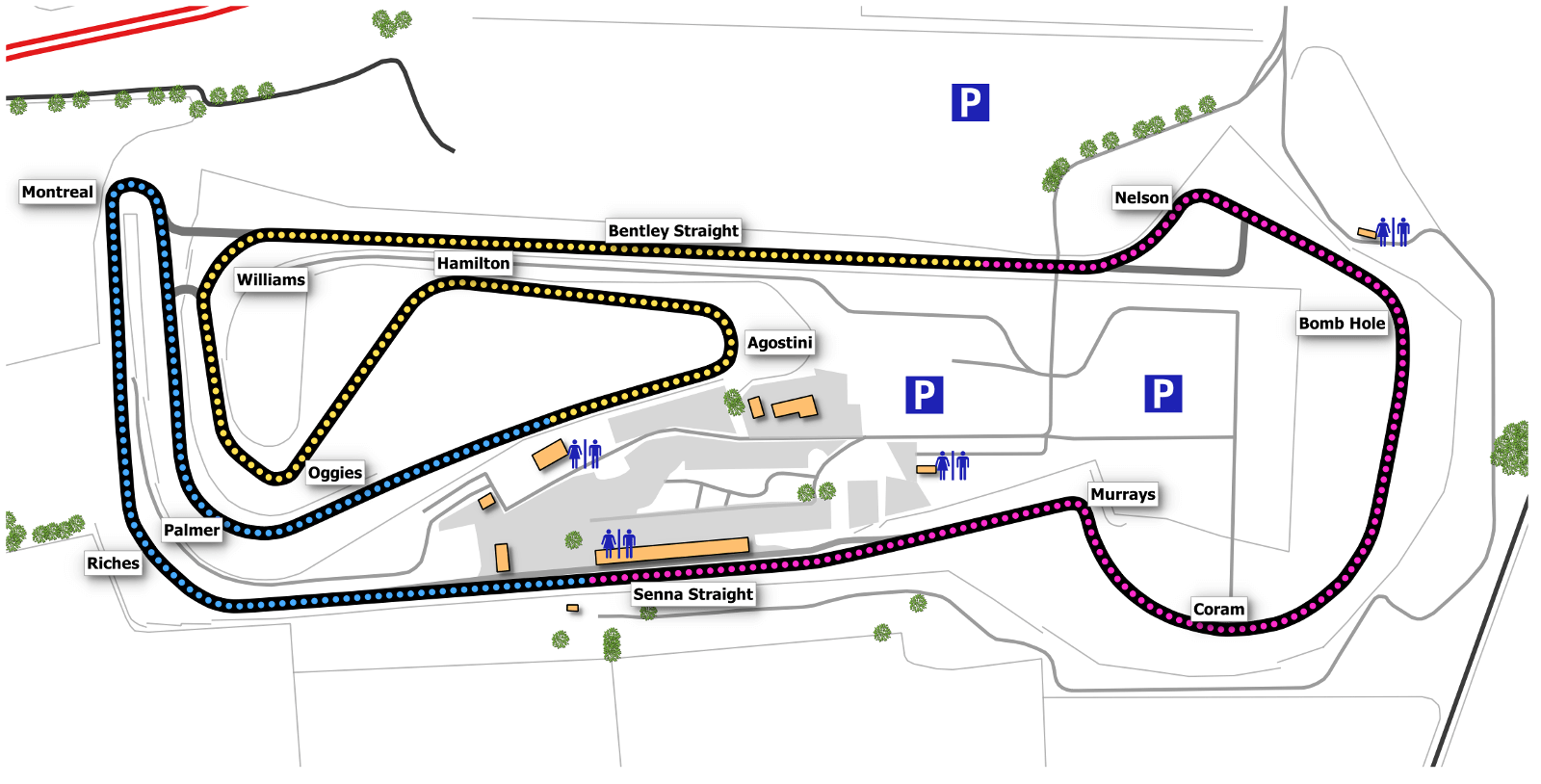 Snetterton 300 map