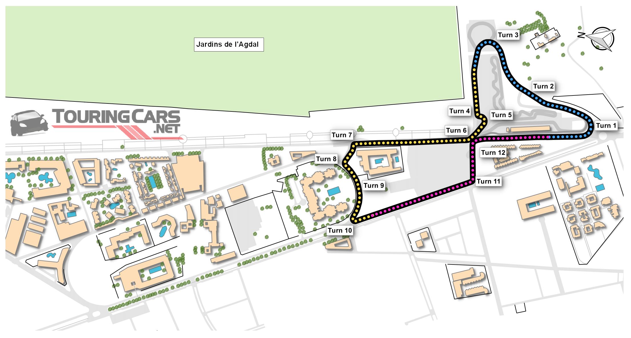 Circuit Moulay el Hassan map
