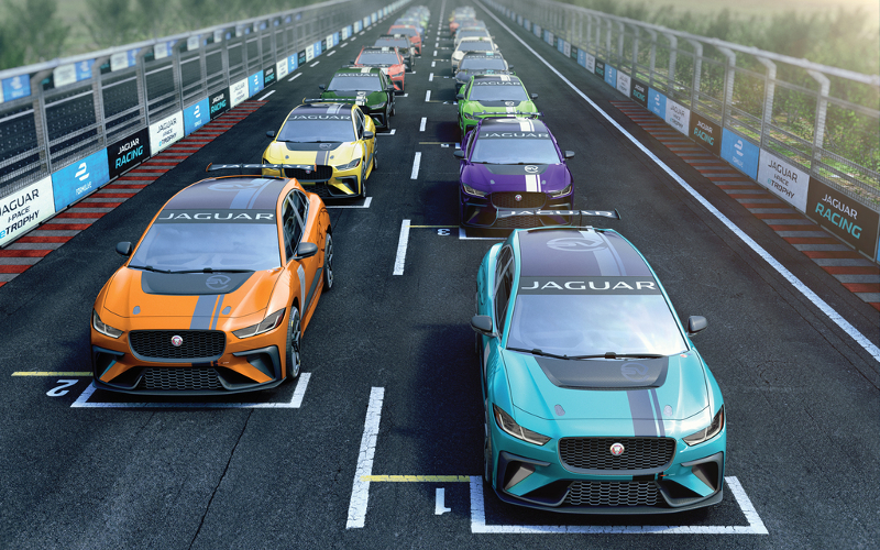 Jaguar iPACE eTrophy grid