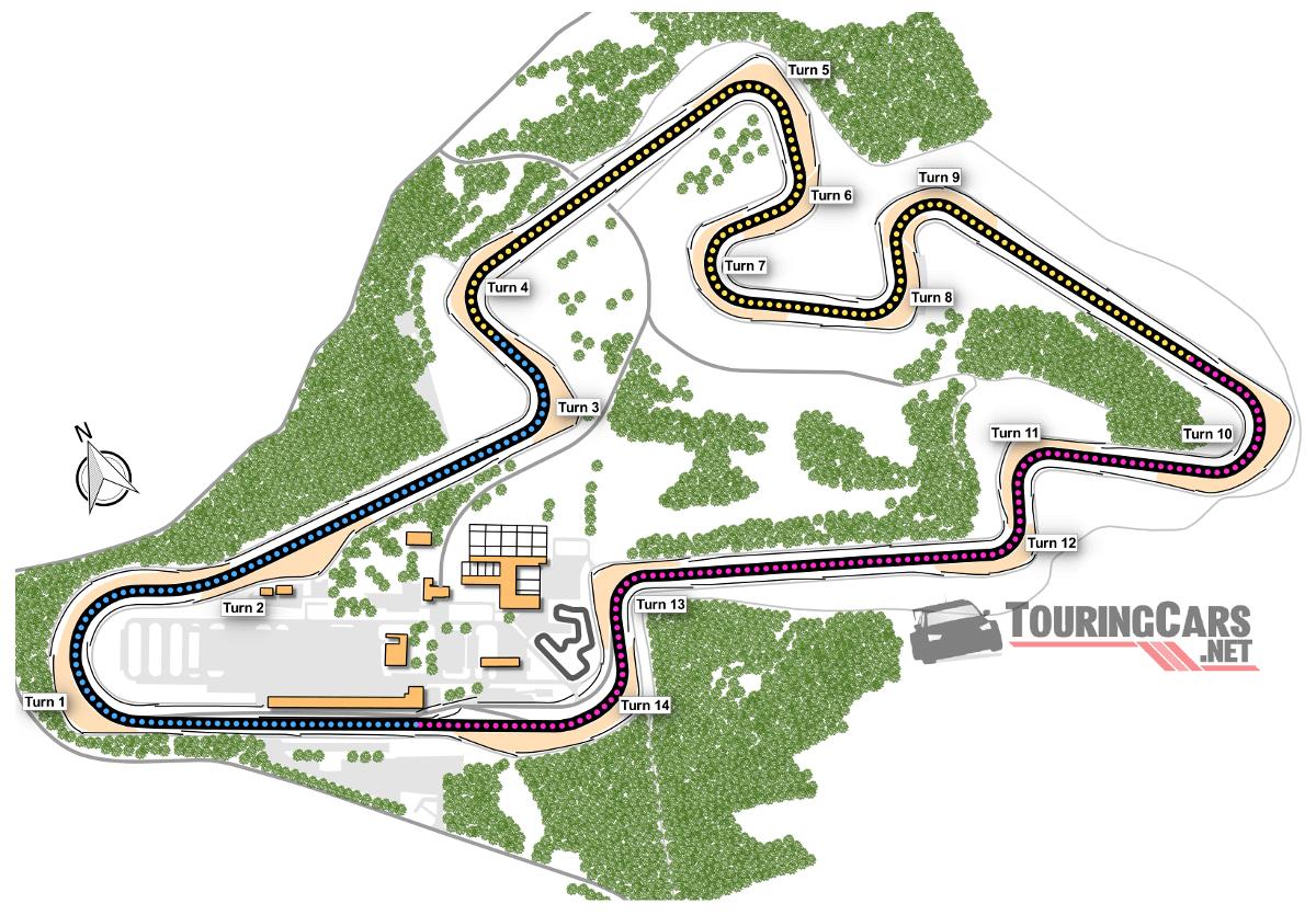 Brno Circuit map