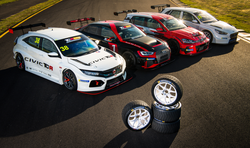 TCR Australia tyres and cars