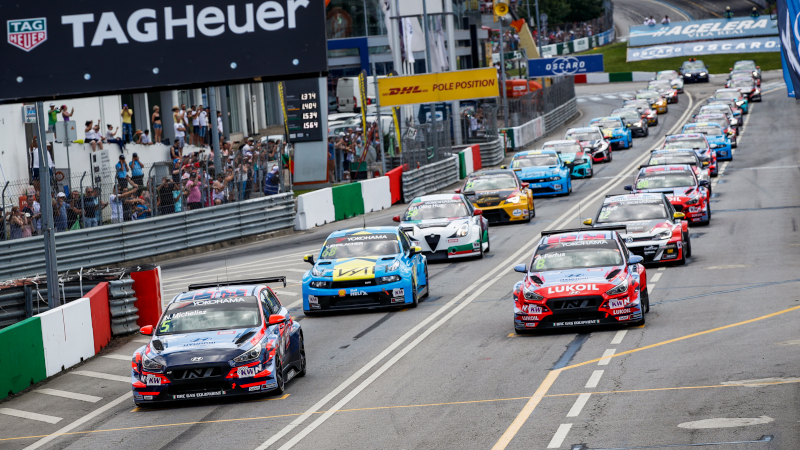 WTCR race start at Vila Real