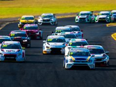 TCR Australia race start at Sydney Motorsport Park