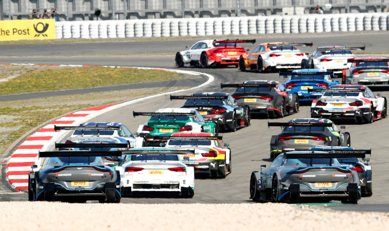 DTM race start at the Nürburgring