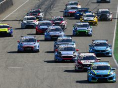 ADAC TCR Germany race start at the Hockenheimring