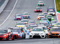 Gianni Morbidelli leads, TCR Europe race start at the Red Bull Ring