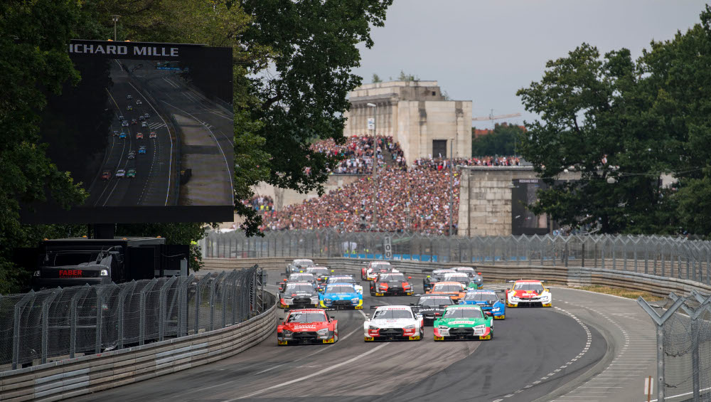 DTM start of race two at the Norisring