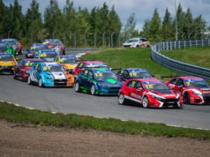 Ivan Lukashevich, Lukoil Racing Team, Hyundai i30 N TCR in TCR Russia race start