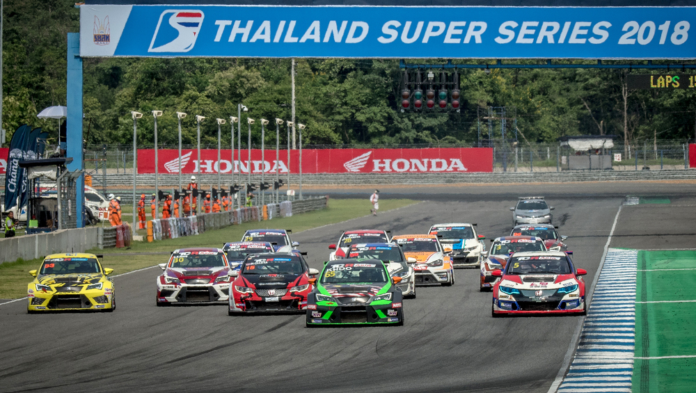 TCR Asia race start in Thailand