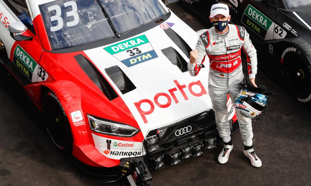 René Rast, Audi Sport Team Rosberg, Audi RS5 DTM wearing a mask