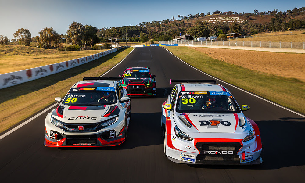 Tony D'Alberto, Will Brown and Russell Ingall, TCR Bathurst 500